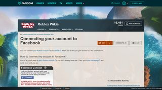 Connecting your account to Facebook   Roblox Wikia   FANDOM ...
