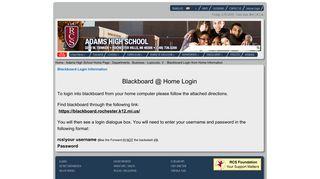 Rochester Community Schools - Blackboard Login from Home ...