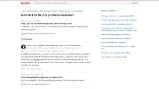 How to fix Netflix problems on Roku - Quora