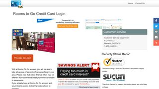Rooms to Go Credit Card - Login