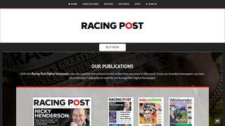 Racing Post Weekender online - The Racing Post Digital Newspaper