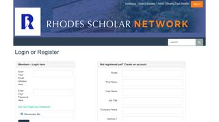 Rhodes Scholar Network: Login or Register