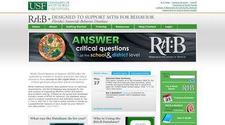 Florida's Response to Intervention for Behavior