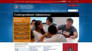 Undergraduate Admissions | Sacred Heart University Connecticut