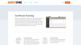 Certificate Tracking - SafetySync