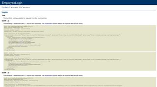 EmployeeLogin Web Service - SafetySync