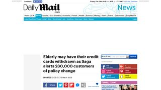 Elderly may have their credit cards withdrawn as Saga alerts ...