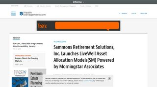 Sammons Retirement Solutions, Inc. Launches LiveWell Asset ...