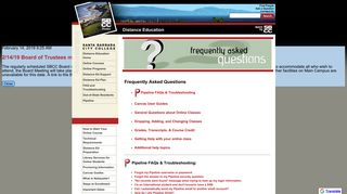Frequently Asked Questions - Santa Barbara City College