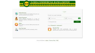 SCB Online Banking :: Welcome