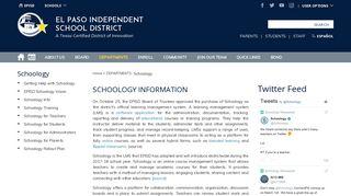 Schoology / Schoology Info - episd