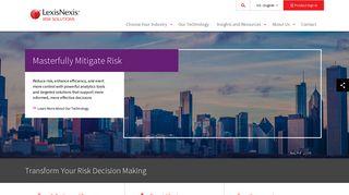 LexisNexis Risk Solutions | Transform Your Risk Decision Making