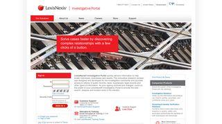 LexisNexis® Investigative Portal - Sign In
