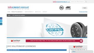 KYC Solutions by LexisNexis | Infocredit