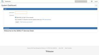 SD62 Sooke IT Service Desk: Log In