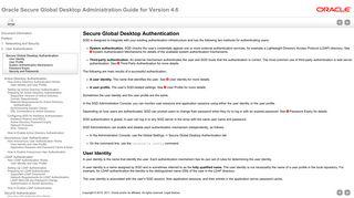 Secure Global Desktop Authentication - Oracle Docs