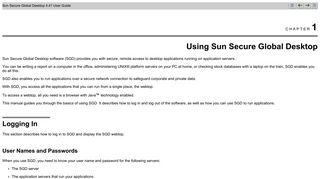 Using Sun Secure Global Desktop - Oracle Docs