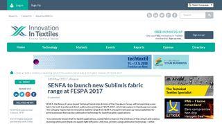 SENFA to launch new Sublimis fabric range at FESPA 2017