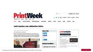 Senfa launches new sublimation fabrics | PrintWeek