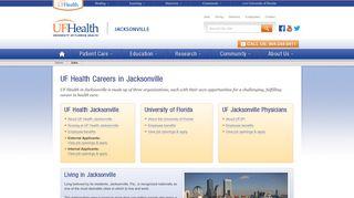 Jobs - UF Health Jacksonville