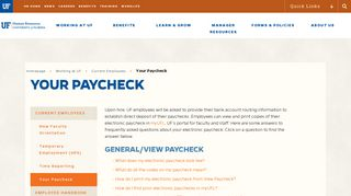 Your Paycheck - UF Human Resources - University of Florida