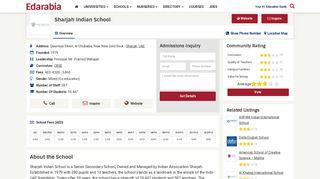 Sharjah Indian School (Reviews) Sharjah, UAE - Edarabia