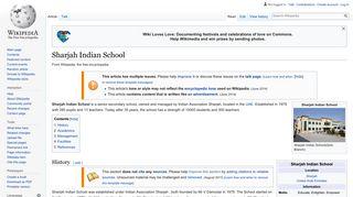 Sharjah Indian School - Wikipedia