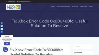 How To Fix Xbox Error Code 0x800488fc: Call +1-888-869-4549