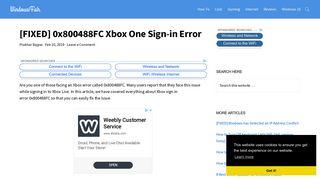 [FIXED] 0x800488FC Xbox One Sign-in Error - WindowsFish