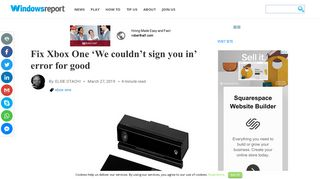 Fix Xbox One 'We couldn't sign you in' error for good - Windows Report