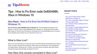 How to Fix Error code 0x800488fc Xbox in Windows 10 - Tips-howto
