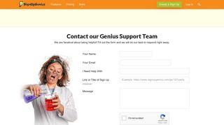Contact our Genius Support Team - Sign Up Genius