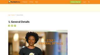 1. General Details - Sign Up Genius