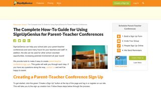 The Complete How-To Guide for Using SignUpGenius for Parent ...