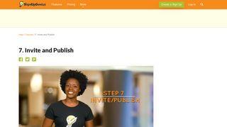 7. Invite and Publish - Sign Up Genius