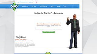 Create an account! - The Sims 3