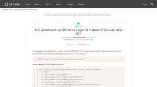 Add enrollment via SIS ID or Login ID instead o... | Canvas LMS ...