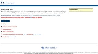 SIS - Johns Hopkins University