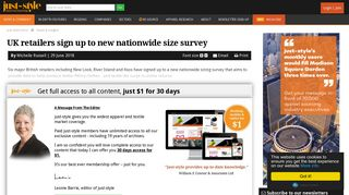 UK retailers sign up to new nationwide size survey | Apparel Industry ...