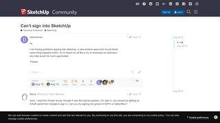 Can't sign into SketchUp - SketchUp - SketchUp Community ...
