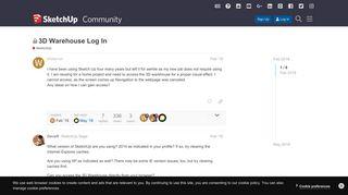 3D Warehouse Log In - SketchUp - SketchUp Community