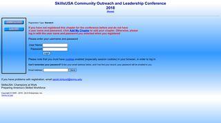 SkillsUSA Registration - Login - DLG Enterprises, Inc.