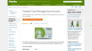 Cash Management Account from Fidelity - Fidelity Investments