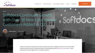 Softdocs Continues Growth with Over 30 New Educational Customers ...