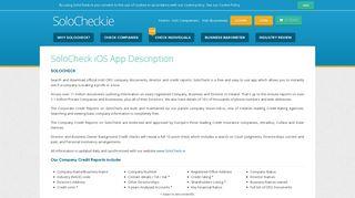 SoloCheck iOS Mobile App - Irish Company Info - SoloCheck