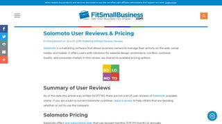 Solomoto User Reviews & Pricing - Fit Small Business