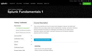 Free Splunk Fundamentals 1