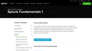Splunk Fundamentals 1