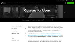 Courses for Users - Splunk