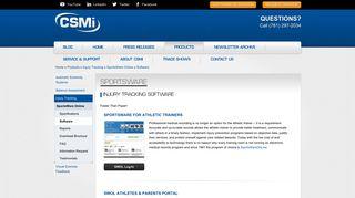 Injury Tracking Software   CSMi Solutions